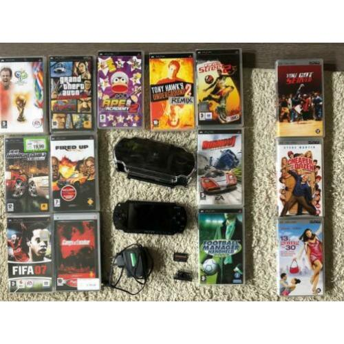 Sony PSP Spelcomputer + games spellen playstation portable