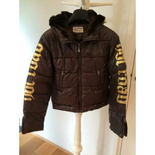 Von Dutch - donkerbruine hippe winterjas - S